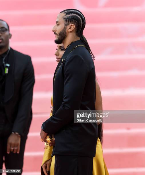 Nessa Diab and Colin Kaepernick are seen arriving to the 2019 Met Gala Celebrating Camp Notes on Fashion at The Metropolitan Museum of Art on May 6...