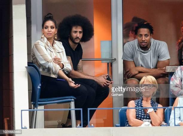 Colin Kaepernick Nessa Diab Eric Reid NEW YORK NY AUGUST 31 Nessa Diab and Colin Kaepernick attend day 5 of the 2018 tennis US Open on Arthur Ashe...