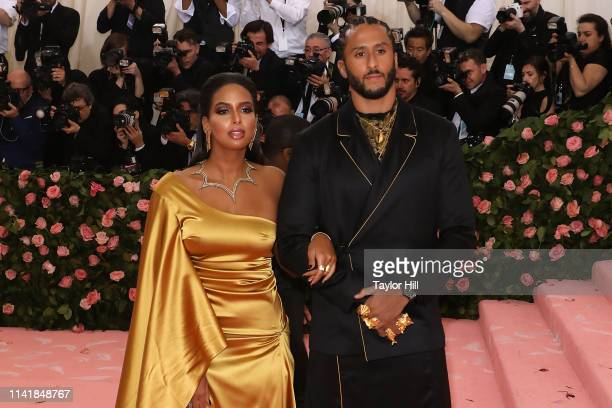 "Nessa Diab and Colin Kaepernick attend the 2019 Met Gala celebrating ""Camp: Notes on Fashion"" at The Metropolitan Museum of Art on May 6, 2019 in New..."