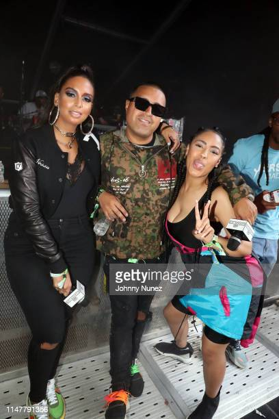 Nessa DJ Camilo and Mia Belle attend Summer Jam 2019 at MetLife Stadium on June 2 2019 in East Rutherford New Jersey