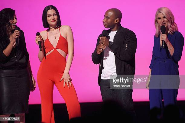 Nessa Jessie J Charlamagne Tha God and Carly Aquilino speak onstage at the MTV 2015 Upfront presentation on April 21 2015 in New York City
