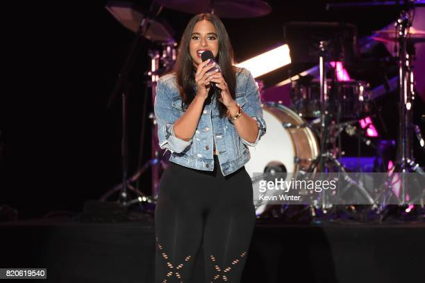 Nessa speaks onstage during MTV Fandom Fest at PETCO Park on July 21 2017 in San Diego California