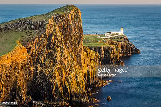Nest point lighthouse, Isle of Skye, Scotland, UK.