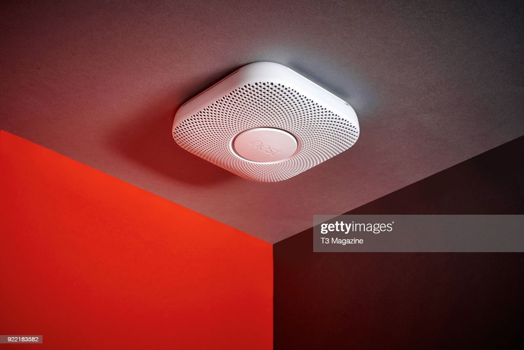 A Nest Protect smoke and carbon monoxide alarm, taken on July 6, 2017.