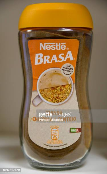 Nestlé Brasa cereal beverage on display at Nestlé Avanca Dairy Products Plant on January 21, 2019 in Avanca, Portugal. This plant produces Cerelac,...