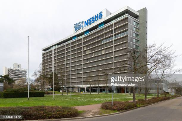 nestlé headquarters in frankfurt - headquarters stock pictures, royalty-free photos & images