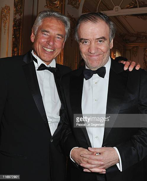 Nestle CEO Peter Brabeck and musical director and conductor Valery Gergiev attends the Montblanc New Voices Award 2011 Montblanc at Mariinsky Ball at...
