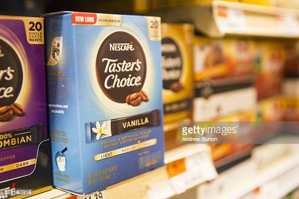 Nestle Nescafe Taster's Choice is sold on a store's shelves on February 18 2016 in New York City Nestle recently reported the slowest sales in six...