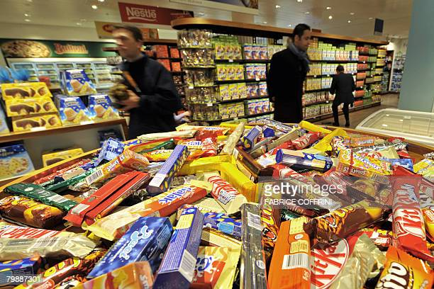 Nestle's chocolates are seen on February 21 2008 at the supermarket company at the Headquarters in Vevey The world's number one food manufacturer...