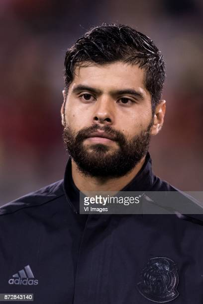 Nestor Araujo of Mexico during the friendly match between Belgium and Mexico on November 10 2017 at the Koning Boudewijn stadium in Brussels Belgium