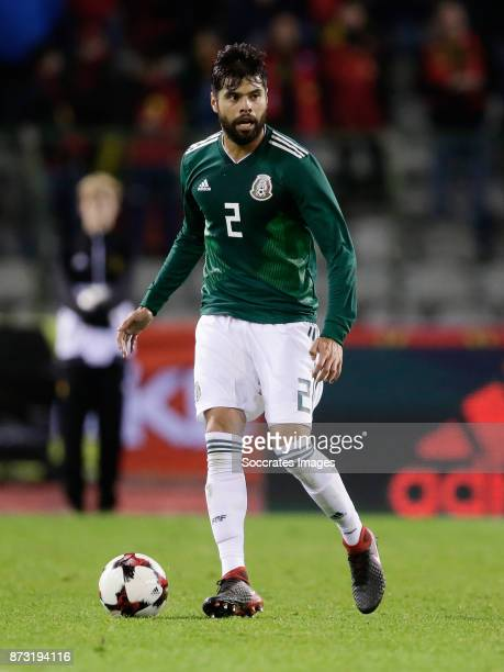Nestor Araujo of Mexico during the International Friendly match between Belgium v Mexico at the Koning Boudewijnstadion on November 10 2017 in...