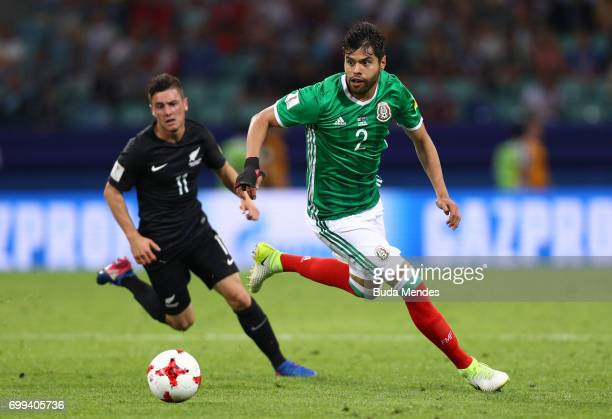 Nestor Araujo of Mexico in action during the FIFA Confederations Cup Russia 2017 Group A match between Mexico and New Zealand at Fisht Olympic...