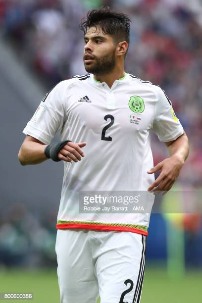 Nestor Araujo of Mexico in action during the FIFA Confederations Cup Russia 2017 Group A match between Mexico and Russia at Kazan Arena on June 24...