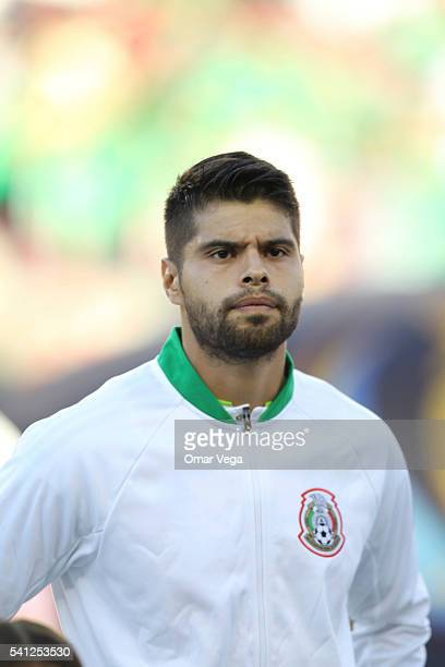 Nestor Araujo of Mexico looks on before a Quarterfinal match between Mexico and Chile at Levi's Stadium as part of Copa America Centenario US 2016 on...