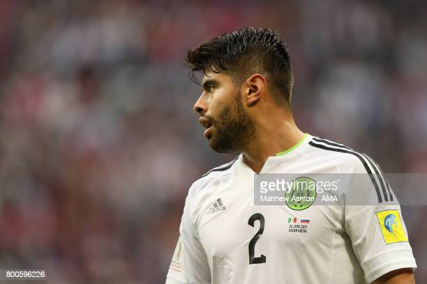 Nestor Araujo of Mexico looks on during the FIFA Confederations Cup Russia 2017 Group A match between Mexico and Russia at Kazan Arena on June 24...