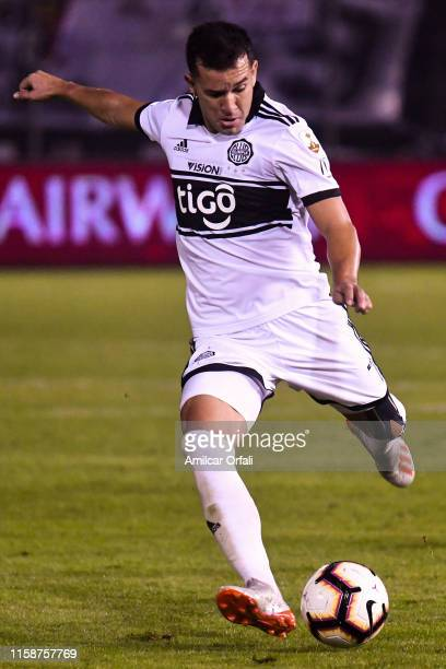 Nestor Camacho Ledesma of Olimpia kick the ball during a round of sixteen second leg match between Olimpia and LDU Quito as part of Copa CONMEBOL...