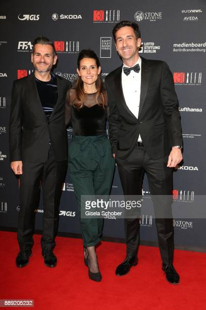 Nestor Carrasco Ester Maillo and Oriol Tarrago during the 30th European Film Awards 2017 at 'Haus der Berliner Festspiele' on December 9 2017 in...