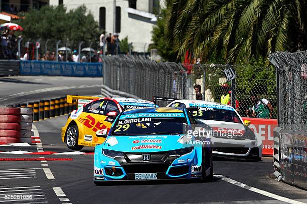 Nestor Girolami in Honda Civic WTCC of Honda Racing team Sweden during the FIA WTCC 2015 Qualifying at Vila Real in Portugal on July 11 2015