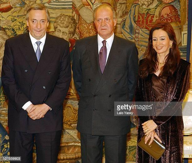 Nestor Kirchner King Juan Carlos and Cristina de Kirchner