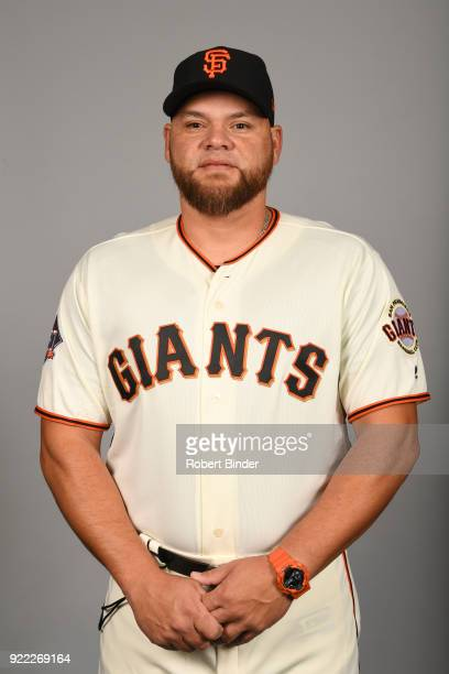 Nestor Rojas of the San Francisco Giants poses during Photo Day on Tuesday February 20 2018 at Scottsdale Stadium in Scottsdale Arizona