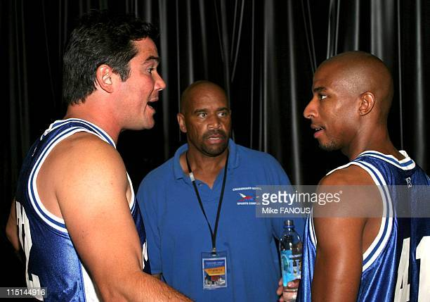 Net Gain' Celebrity Basketball Game To Benefit Los Angeles Kids in Santa Monica United States on October 17 2004 Dean Cain and Antwon Tanner at the...