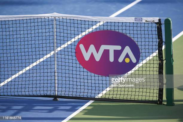 Net with the WTA logo during the Western & Southern Open at Lindner Family Tennis Center on August 15th, 2019 in Mason, Ohio.