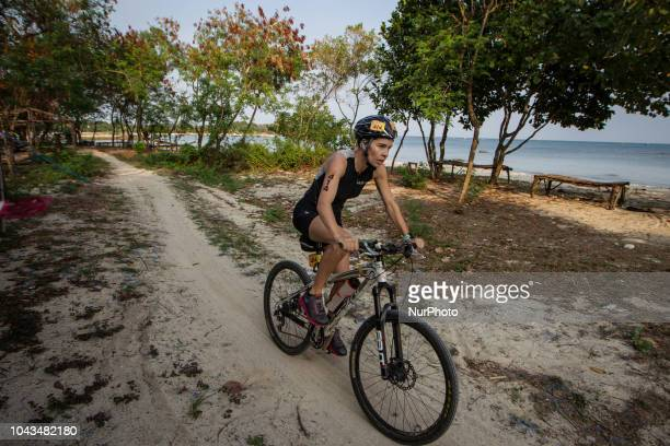 Neteherlands triathlon athletes Lieselotte Heederik during 2018 Rhino Cross Triathlon at Tanjung Lesung Banten Indonesia on September 30 2018 She...