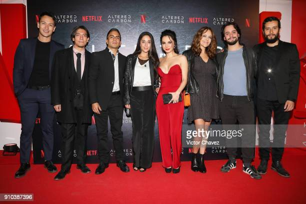 Netflix actors Markin Lopez Said Sandoval Memo Dorantes guest Martha Higareda Cristina Umana Aldo Escalante and Raul Briones attend the premiere of...
