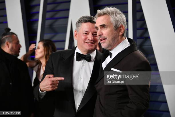 Netflix CCO Ted Sarandos and Alfonso Cuaron winner of the the Foreign Language Film Cinematography and Directing awards for 'Roma' attend the 2019...