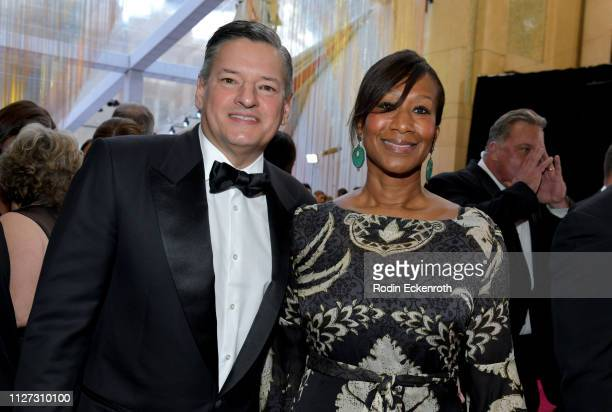 Netflix CCO Ted Sarandos and Nicole Avant attend the 91st Annual Academy Awards at Hollywood and Highland on February 24 2019 in Hollywood California