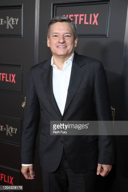 Netflix CCO Ted Sarandos attends Netflix's Locke Key series premiere photo call at the Egyptian Theatre on February 05 2020 in Hollywood California