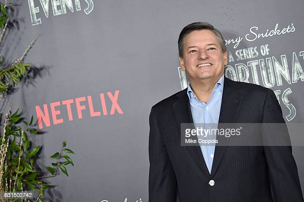 Netflix CCO Ted Sarandos attends the Lemony Snicket's A Series Of Unfortunate Events Screening at AMC Lincoln Square Theater on January 11 2017 in...