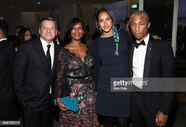 Netflix CCO Ted Sarandos Former US Ambassador Nicole Avant Helen Lasichanh and Pharrell Williams attend the Seventh Biennial UNICEF Ball Los Angeles...
