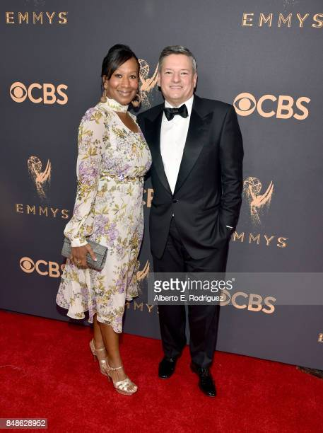 Netflix CCO Ted Serandos and Nicole Avant attend the 69th Annual Primetime Emmy Awards at Microsoft Theater on September 17, 2017 in Los Angeles,...