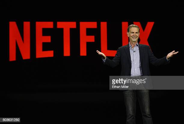 Netflix CEO Reed Hastings delivers a keynote address at CES 2016 at The Venetian Las Vegas on January 6, 2016 in Las Vegas, Nevada. CES, the world's...