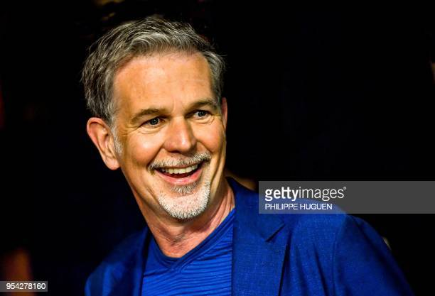 Netflix CEO Reed Hastings is pictured on May 3 2018 in Lille northern France during the first edition of the TV Series Mania festival