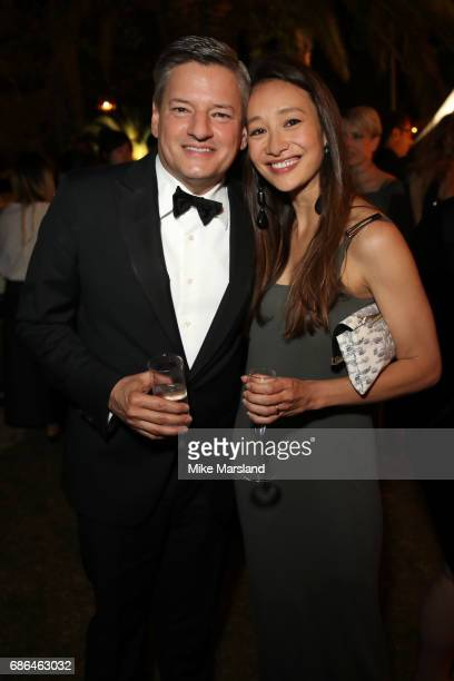 Netflix CEO Ted Sarandos and producer Joanna Natasegara attend the Netflix party during the 70th annual Cannes Film Festival at on May 21 2017 in...