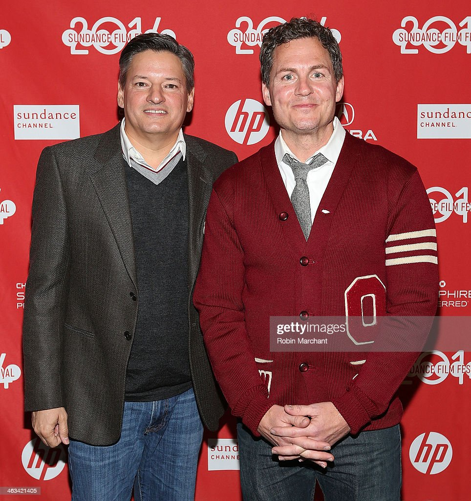 Netflix chief content officer Ted Sarandos (L) and Director Greg Whiteley attend 'Mitt' Premiere during 2014 Sundance Film Festival at Rose Wagner Performing Arts Center on January 17, 2014 in Salt Lake City, Utah.