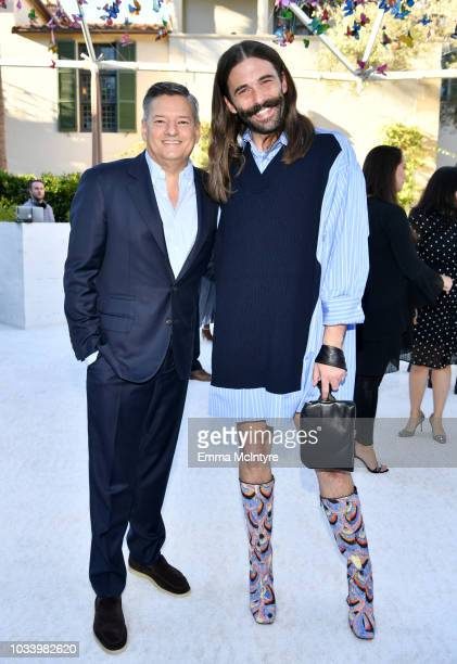 Netflix Chief Content Officer Ted Sarandos and Jonathan Van Ness attend Ted Sarandos' 2018 Annual Netflix Emmy Nominee Toast on September 15 2018 in...