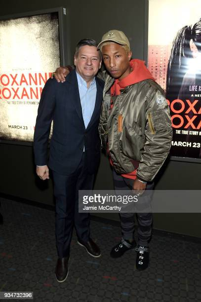 Netflix Chief Content Officer Ted Sarandos and producer Pharrell Williams attend a special screening of the Netflix film 'Roxanne Roxanne' at the SVA...