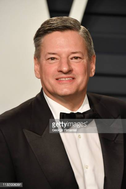 Netflix Chief Content Officer Ted Sarandos attends the 2019 Vanity Fair Oscar Party hosted by Radhika Jones at Wallis Annenberg Center for the...