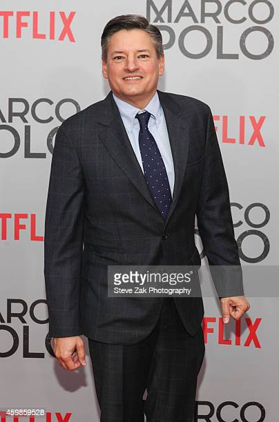 Netflix Chief Content Officer Ted Sarandos attends the 'Marco Polo' New York Series Premiere at AMC Lincoln Square Theater on December 2 2014 in New...