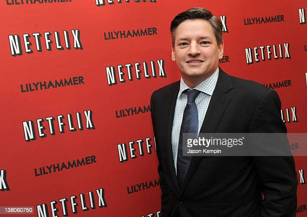 Netflix Chief Content Officer Ted Sarandos attends the North American Premiere Of 'Lilyhammer' a Netflix Original Series at Crosby Street Hotel on...