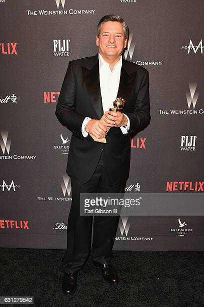 Netflix Chief Content Officer Ted Sarandos attends The Weinstein Company and Netflix Golden Globe Party presented with FIJI Water Grey Goose Vodka...