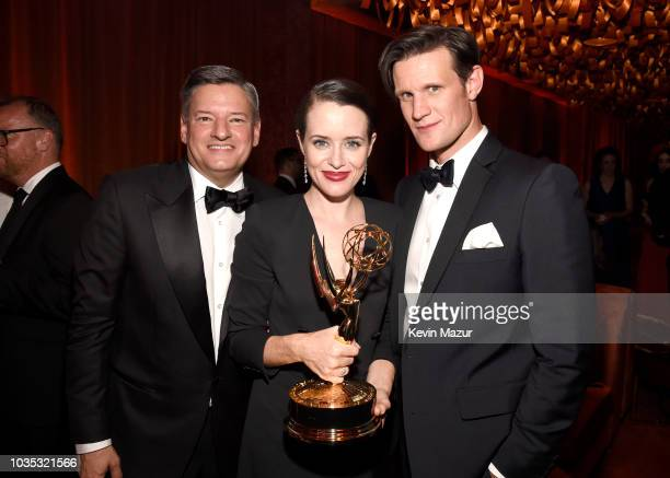 Netflix Chief Content Officer Ted Sarandos Claire Foy and Matt Smith attend the 2018 Netflix Primetime Emmys After Party at NeueHouse Hollywood on...