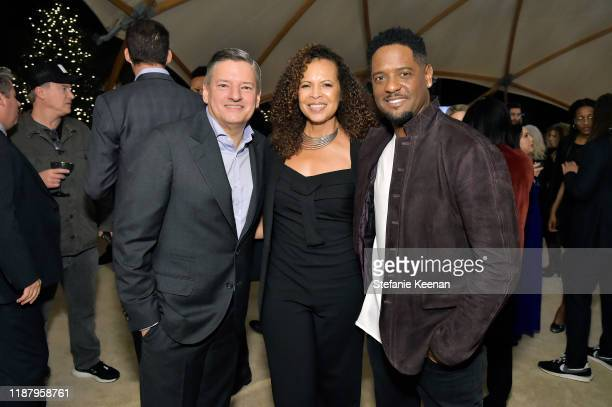Netflix Chief Content Officer Ted Sarandos Desiree DaCosta and Blair Underwood attend Celebrate the Season Ted's Holiday Toast at Private Residence...
