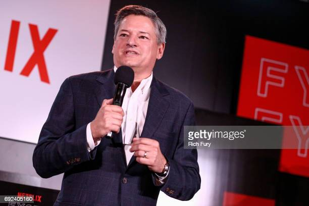 Netflix Chief Content Officer Ted Sarandos speaks on stage during Netflix's 'Dear White People' For Your Consideration Event at Netflix FYSee Space...