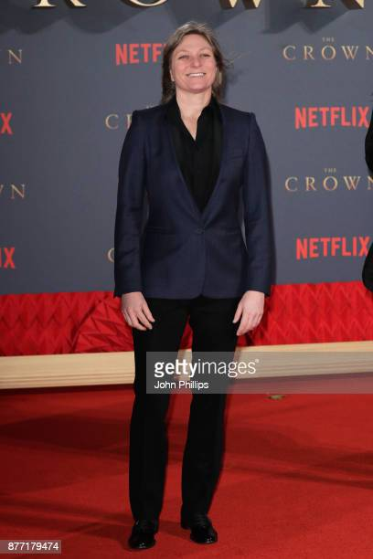Netflix Executive Cindy Holland attends the World Premiere of season 2 of Netflix 'The Crown' at Odeon Leicester Square on November 21 2017 in London...