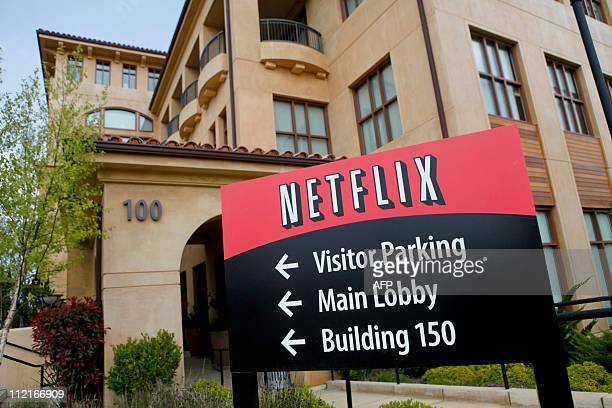 Netflix headquarters is pictured in Los Gatos CA on Wednesday April 13 2011 AFP PHOTO / Ryan Anson