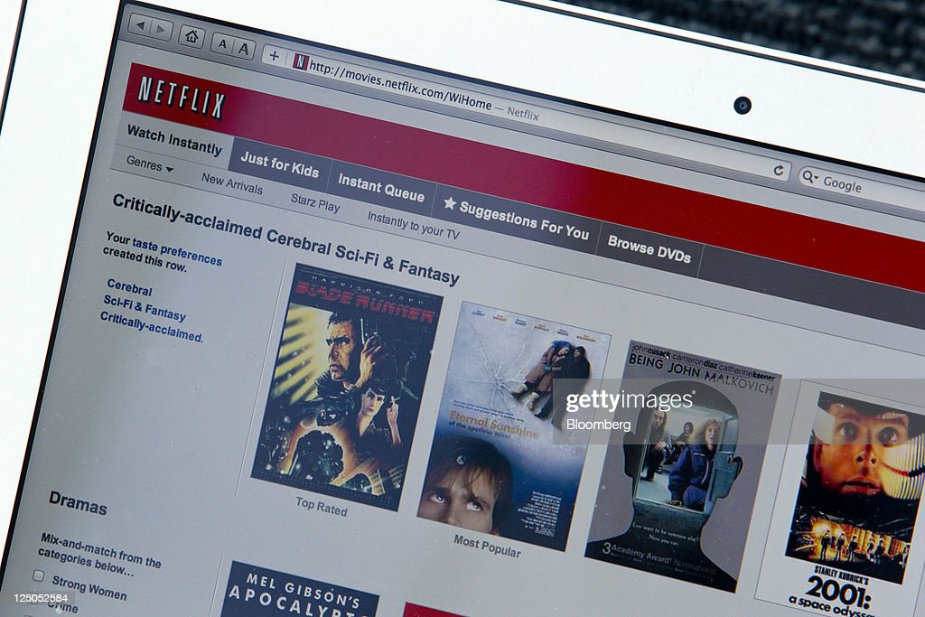 Netflix Tumbles After Cutting Forecast for U.S. Subscribers : News Photo